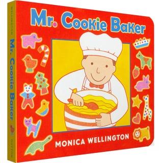 美国进口 绘本食谱二合一 Mr. Cookie Baker 烘焙师先生做饼干【纸板】
