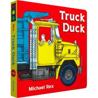 美国进口 趣味认知纸板书 Truck Duck 开卡车的鸭子【纸板】